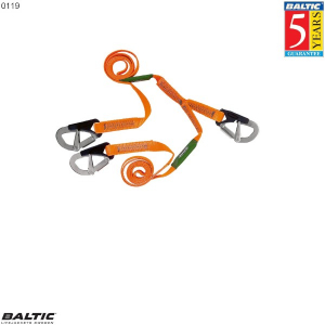 3-hook 2m Symmetric safety line Orange BALTIC 0119